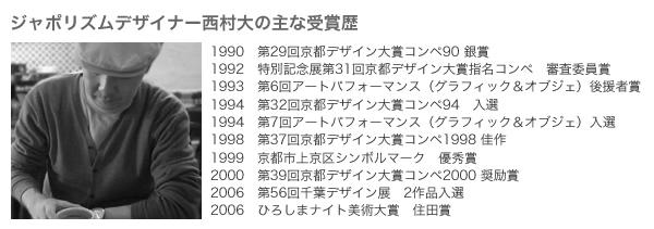 デザイナー受賞歴
